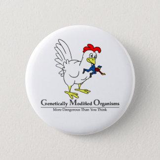 GMO Chicken 6 Cm Round Badge