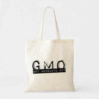 gmo get monsanto out budget tote bag
