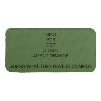 GMO, PCB, DDT, Dioxin, Agent Orange