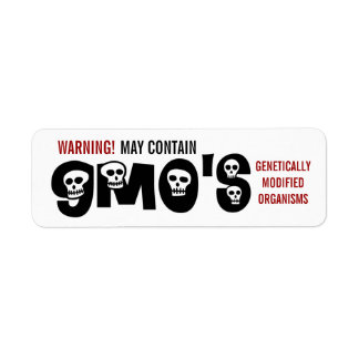 GMO Warning Label Return Address Label