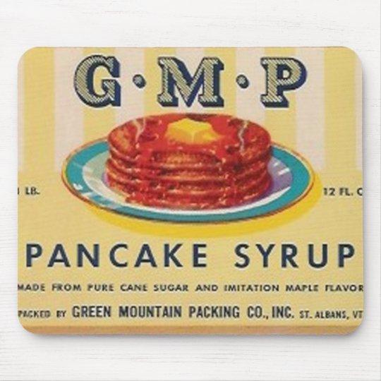 gmp pancake syrup label mousepad