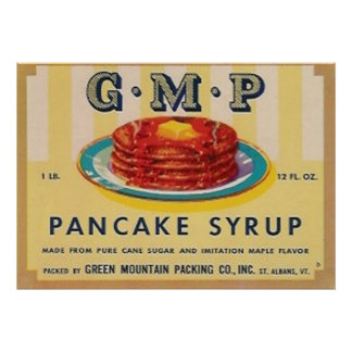 gmp pancake syrup label poster