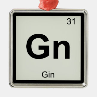 Gn - Gin Chemistry Periodic Table Symbol Christmas Ornament