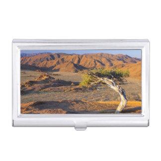 Gnarled Tree And Desert Lands, Richtersveld Business Card Holder