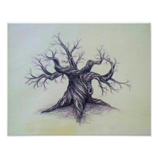 Gnarled Tree Poster