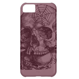 GNARLY SKULL WITH SPIDERS AND WEBS iPhone 5C COVERS