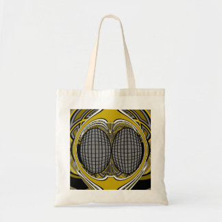 Gnarly superfly in silver and gold tote bags