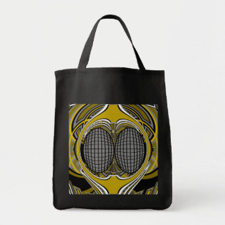 Gnarly superfly in silver and gold canvas bags