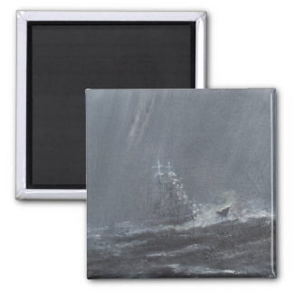 Gneisenau Storm in the North Sea 1940. 2006 Square Magnet