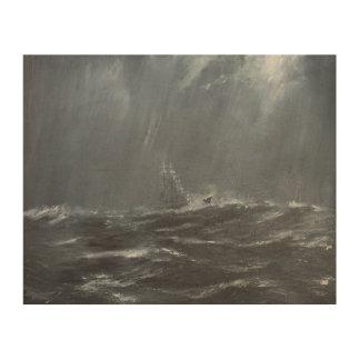 Gneisenau Storm in the North Sea 1940. 2006 Wood Wall Art