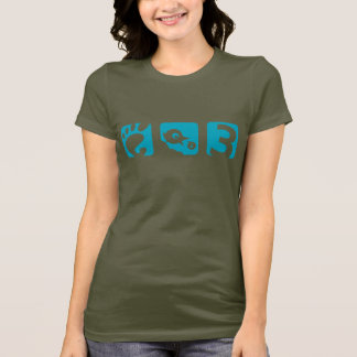 GNOME 3 bird womens t-shirt