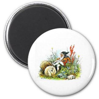 gnome 6 cm round magnet