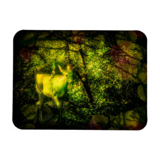 Gnome and Faun in an Enchanted Forest Magnet