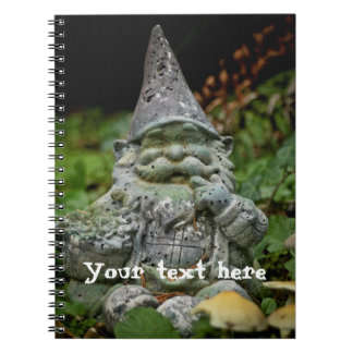 Gnome and toadstools notebook