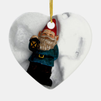 Gnome Angel Ceramic Heart Decoration