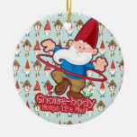 Gnome Body Hoops Like Me Double-Sided Ceramic Round Christmas Ornament