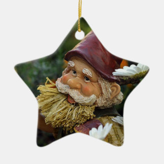 Gnome Ceramic Star Decoration