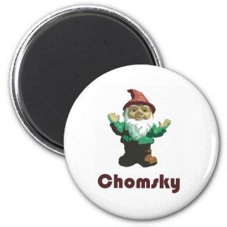 Gnome Chomsky 6 Cm Round Magnet
