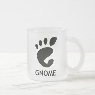 Gnome (desktop environment) frosted glass mug