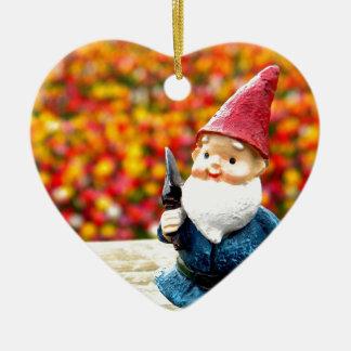 Gnome Field Ceramic Heart Decoration
