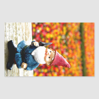 Gnome Field Rectangular Sticker