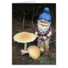Gnome In The Garden Greeting Card