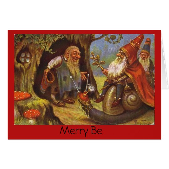Gnome King Greeting Cards