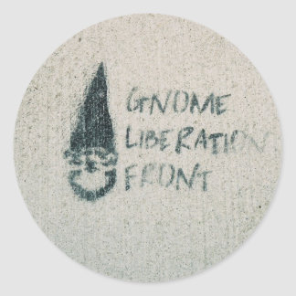 Gnome Liberation Front Round Sticker