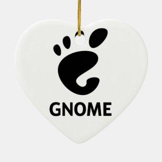 GNOME Logo Ceramic Heart Decoration