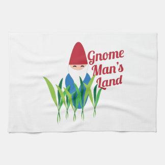Gnome man's land tea towel
