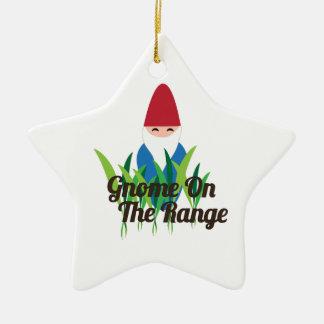 Gnome On The Range Christmas Ornament
