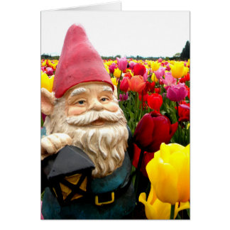 Gnome Petals Greeting Cards