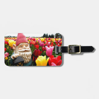 Gnome Petals Luggage Tag