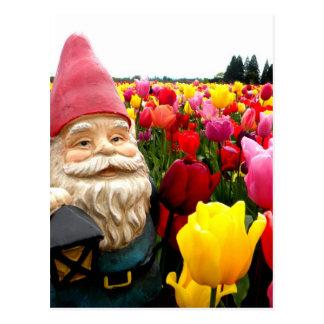 Gnome Petals Postcard