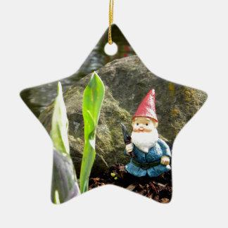 Gnome Pond Ceramic Star Decoration