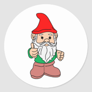 Gnome Round Sticker