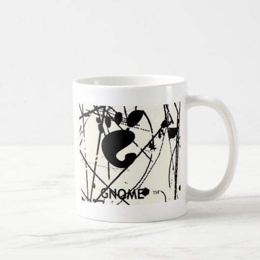 GNOME Scribbles BW Coffee Mugs