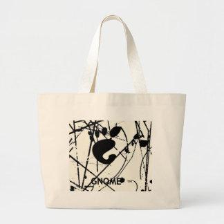 GNOME Scribbles BW Jumbo Tote Bag