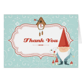 Gnome Thank You Card