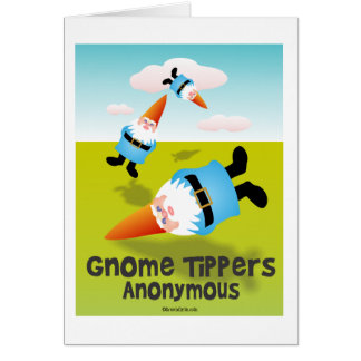 Gnome Tippers Anonymous Note Card