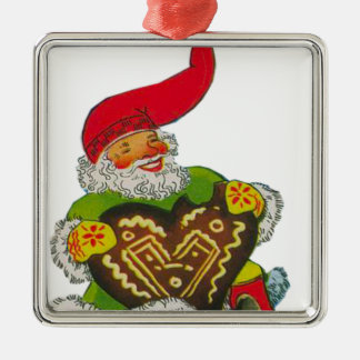 Gnome with a heart christmas ornament