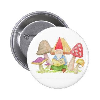 Gnome with Mushroom Book button
