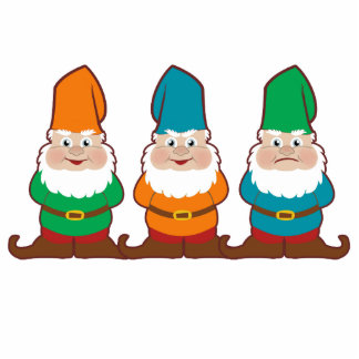 Gnomes Cutouts Sculpture or Magnets Photo Cut Out