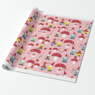 Gnomes Garden Party Gift Wrap