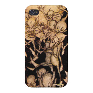 Gnomes I by Arthur Rackham iPhone 4 Covers