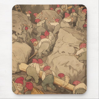 Gnomes Mining in a Cave Mouse Mat