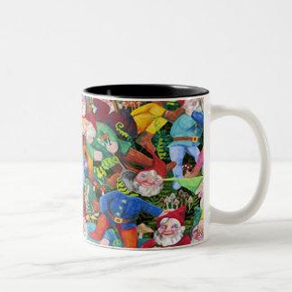 Gnomes Two-Tone Coffee Mug