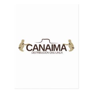 GNU Linux Canaima Distribution Postcard