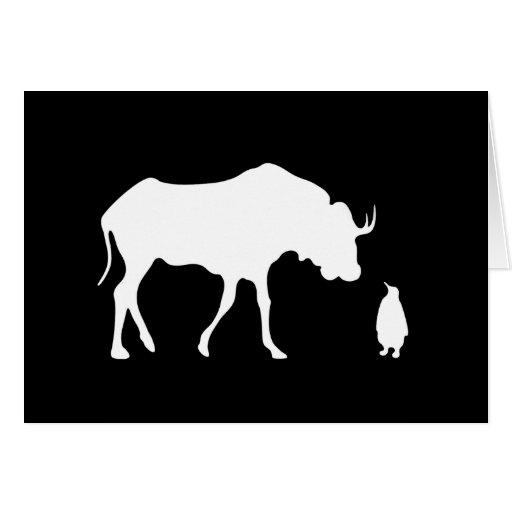 GNU + Linux (white) Greeting Card