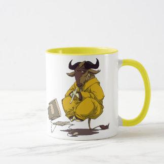Gnu meditate levitate mug